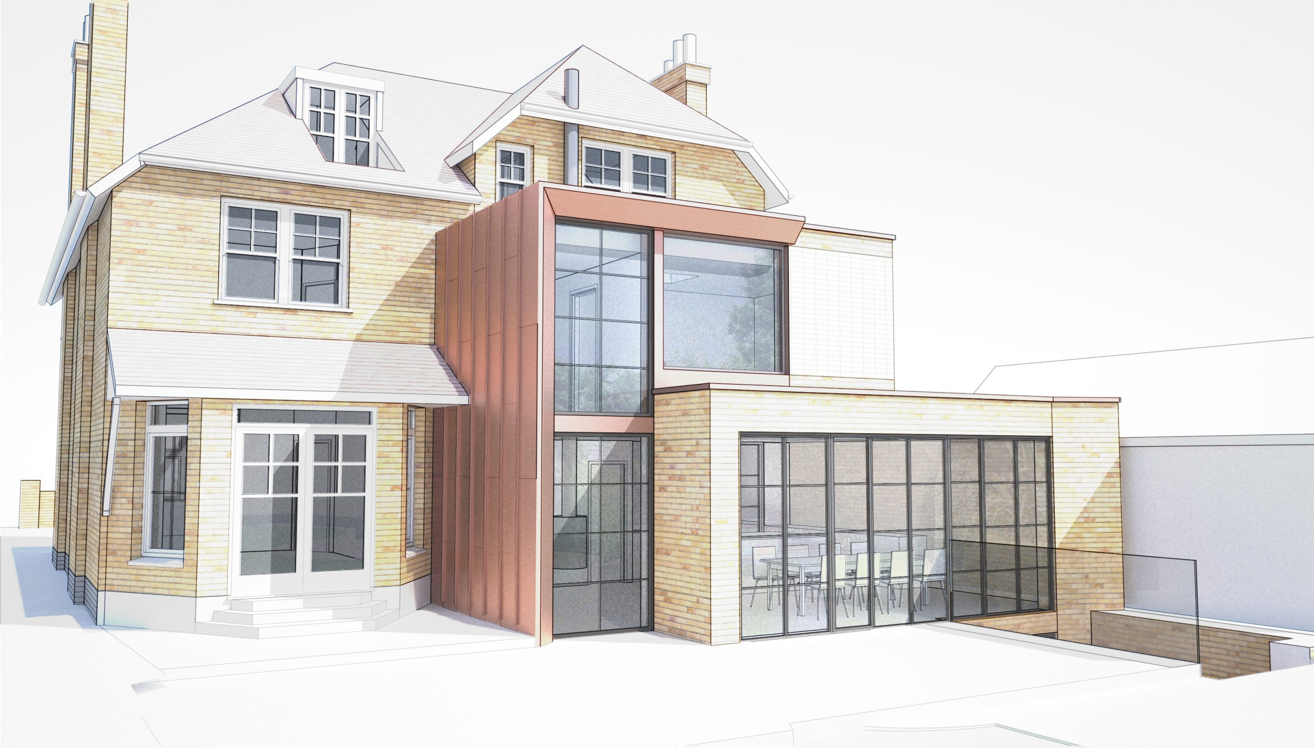 Hampstead Extension Rear View