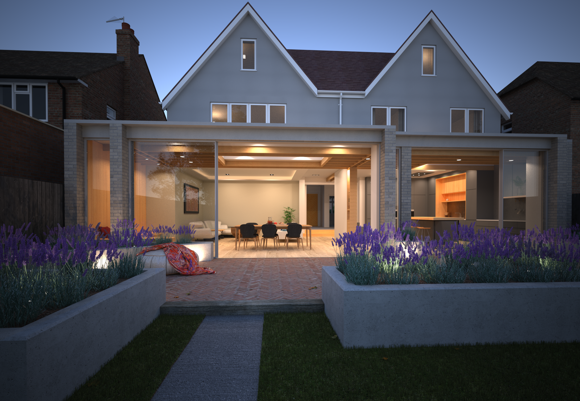 Ruislip Extension Exterior Night